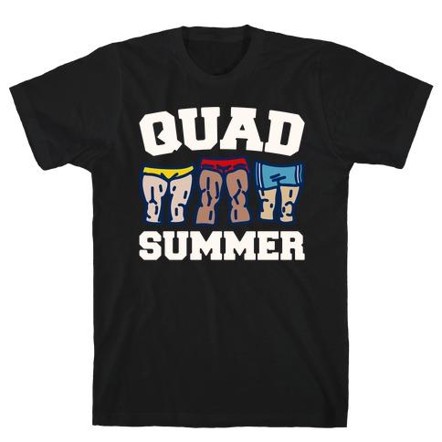 Quad Summer White Print T-Shirt