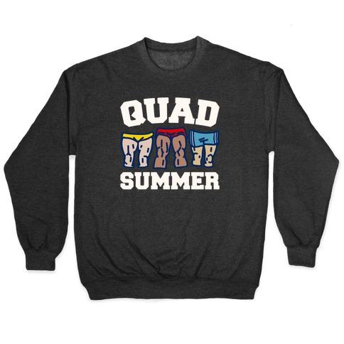 Quad Summer White Print Pullover