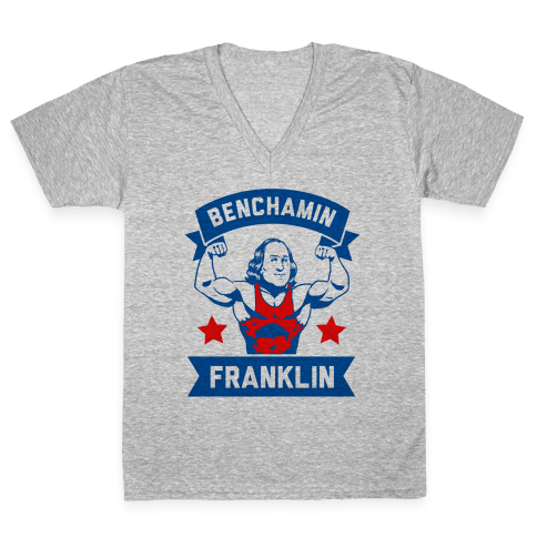 Benchamin Franklin V-Neck Tee Shirt