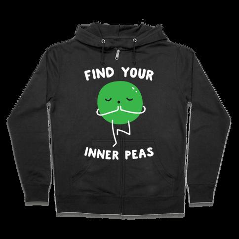 Find Your Inner Peas Zip Hoodie