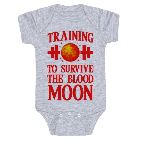 Training to Survive the Blood Moon Baby Onesy