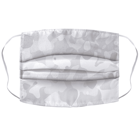 subtle white camo Accordion Face Mask