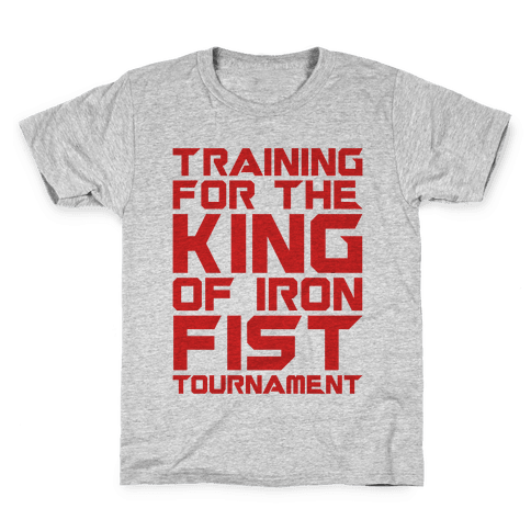 Training For The King of Iron Fist Tournament Parody Kids T-Shirt