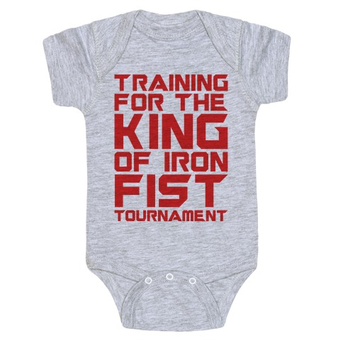 Training For The King of Iron Fist Tournament Parody Baby Onesy