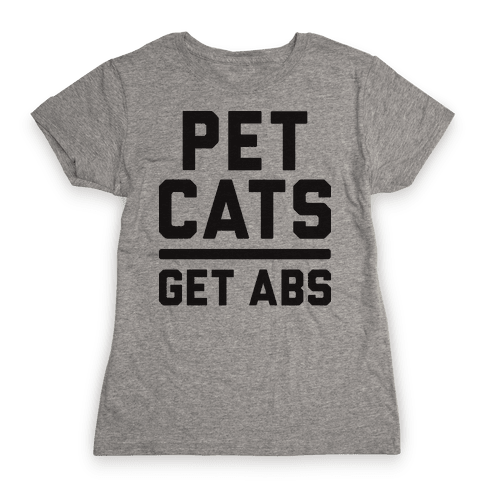 Pet Cats Get Abs Womens T-Shirt