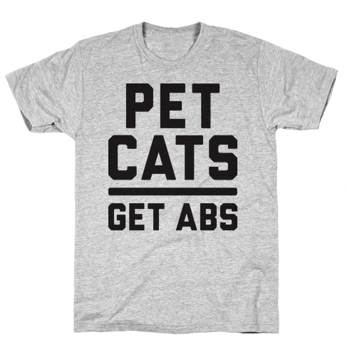 Pet Cats Get Abs Mens T-Shirt