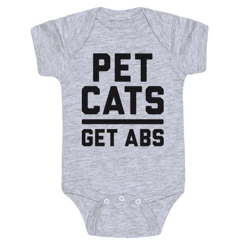 Pet Cats Get Abs Baby Onesy