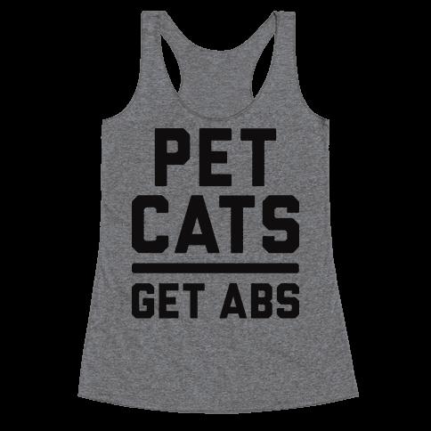 Pet Cats Get Abs Racerback Tank Top