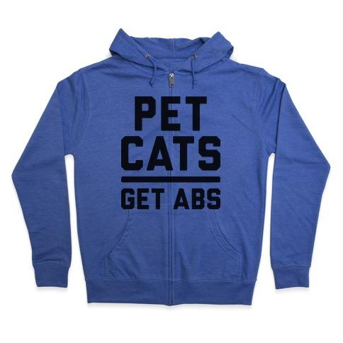 Pet Cats Get Abs Zip Hoodie