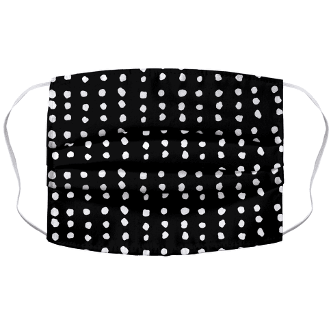Polka Dot Black and White Minimalist Boho Pattern Face Mask