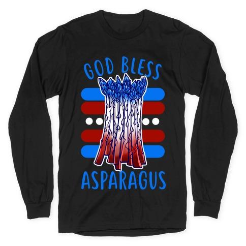 God Bless Asparagus Long Sleeve T-Shirt