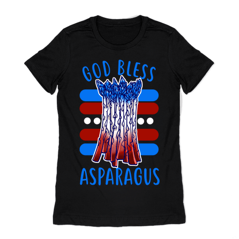 God Bless Asparagus Womens T-Shirt