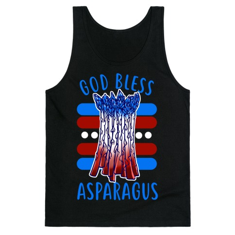 God Bless Asparagus Tank Top