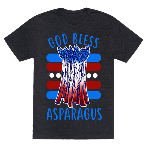 God Bless Asparagus Mens/Unisex T-Shirt