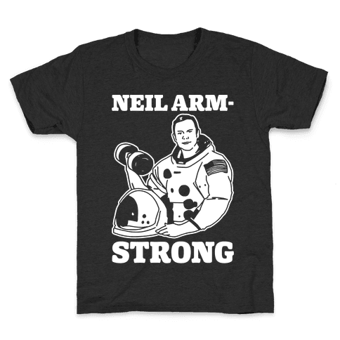 Neil Arm-Strong Lifting Kids T-Shirt