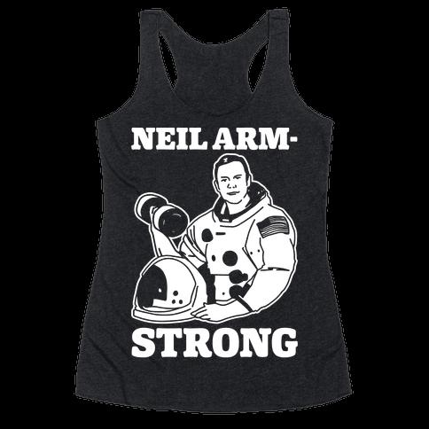 Neil Arm-Strong Lifting Racerback Tank Top