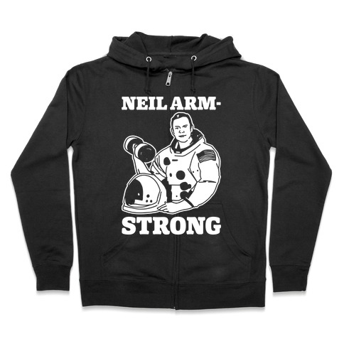 Neil Arm-Strong Lifting Zip Hoodie