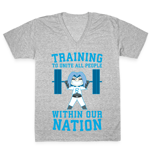 Training To Unite All People Within Our Nation V-Neck Tee Shirt