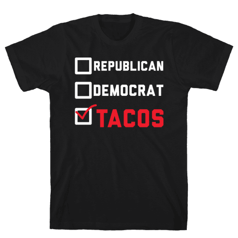 Republican Democrat Tacos Mens T-Shirt