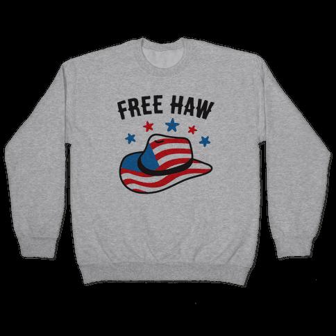 Free Haw Patriotic Cowboy Hat Pullover