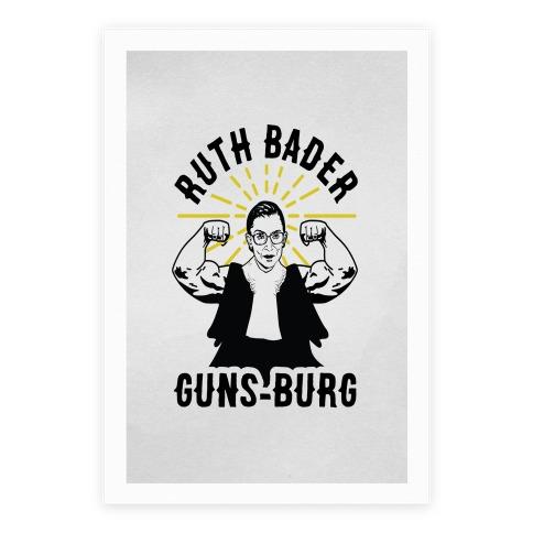 Ruth Bader Guns-Burg Poster