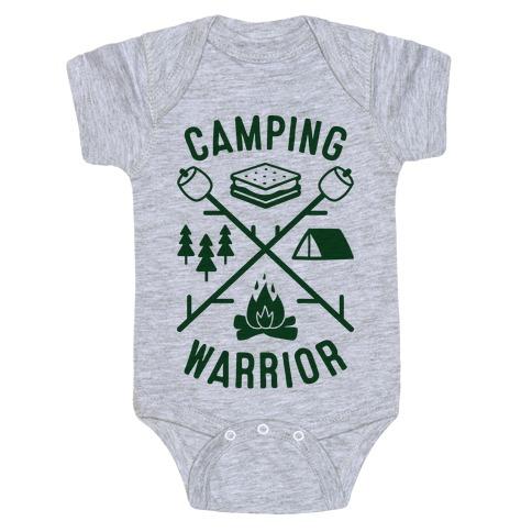 Camping Warrior Baby Onesy
