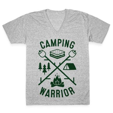 Camping Warrior V-Neck Tee Shirt