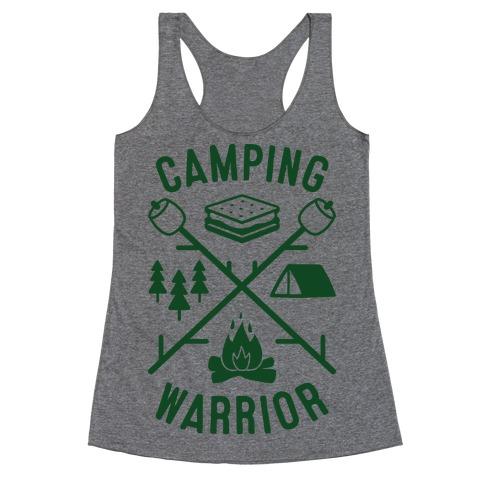 Camping Warrior Racerback Tank Top