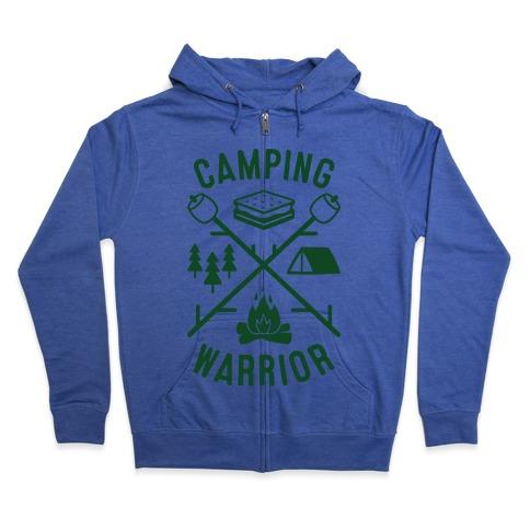 Camping Warrior Zip Hoodie