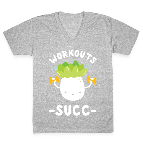 Workouts Succ V-Neck Tee Shirt