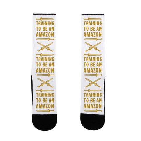 Training To Be An Amazon Parody Sock