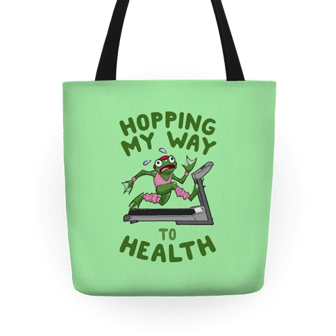 Hopping My Way To Health Tote