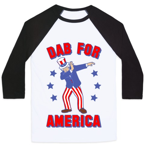 Dab For America Baseball Tee