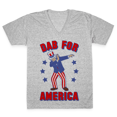 Dab For America V-Neck Tee Shirt
