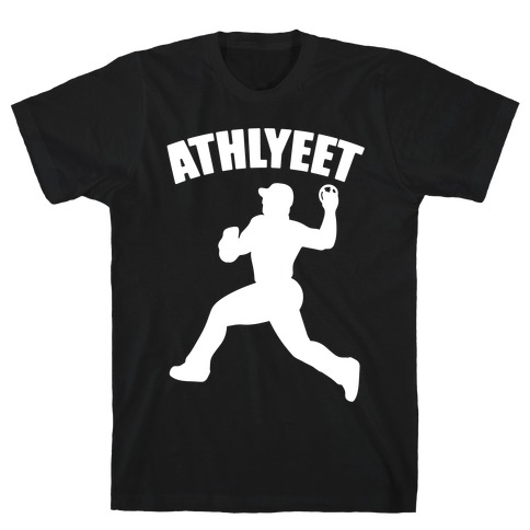 Athlyeet Baseball White Print T-Shirt