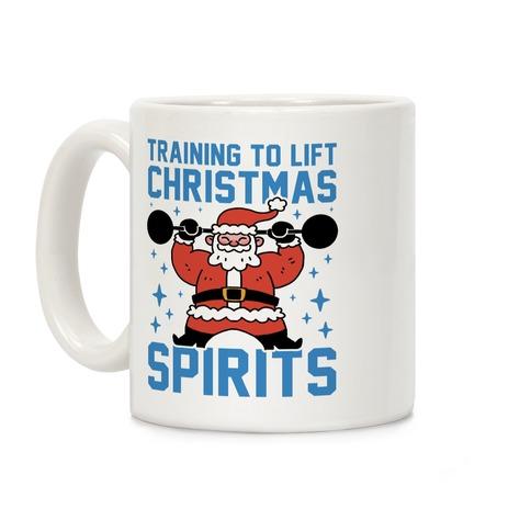 Training To Lift Christmas Spirits Coffee Mug