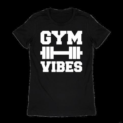Gym Vibes White Print Womens T-Shirt