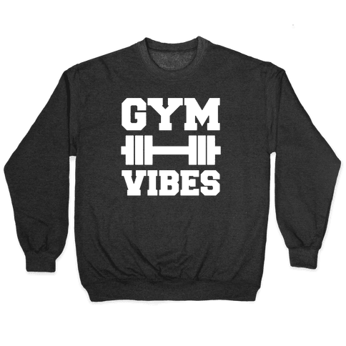Gym Vibes White Print Pullover