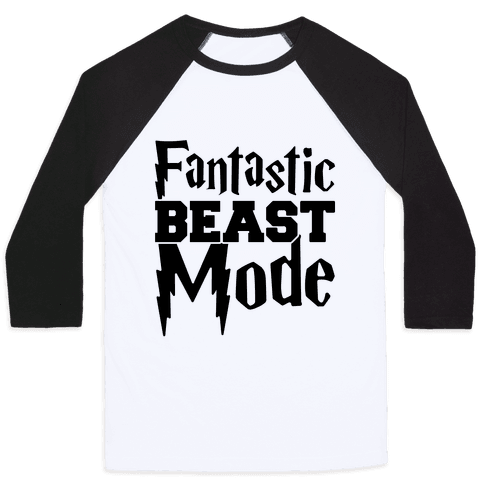 Fantastic Beast Mode Parody Baseball Tee