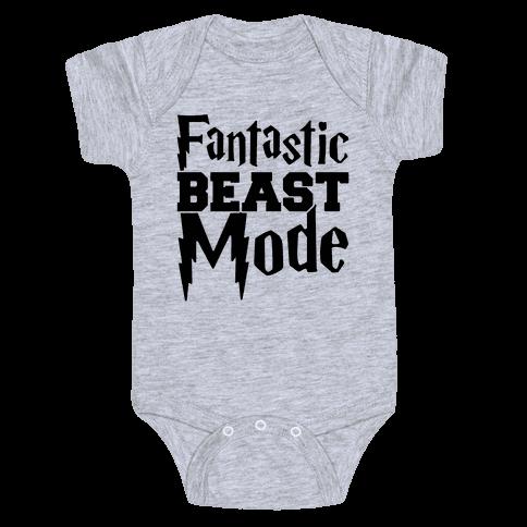 Fantastic Beast Mode Parody Baby Onesy