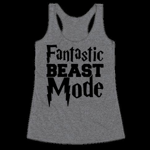 Fantastic Beast Mode Parody Racerback Tank Top