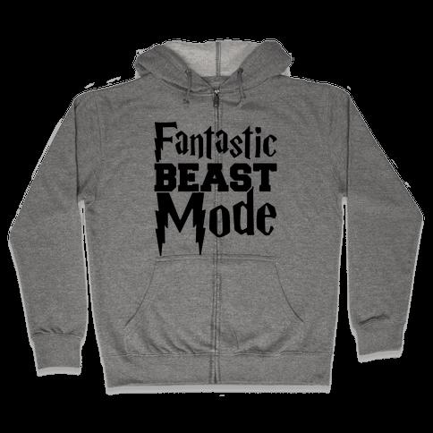 Fantastic Beast Mode Parody Zip Hoodie