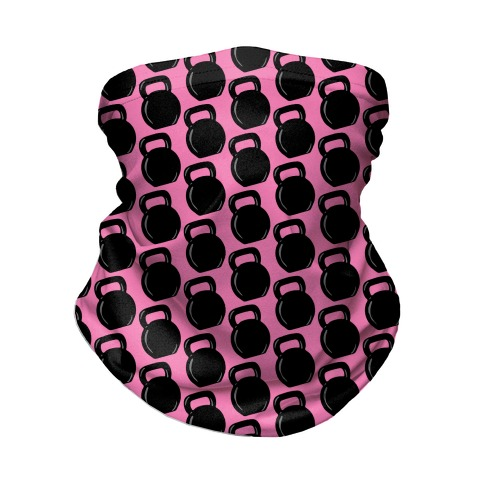 Kettlebell Pattern (Pink Background) Neck Gaiter