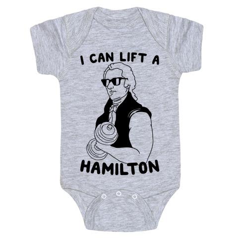 I Can Lift A Hamilton Baby Onesy