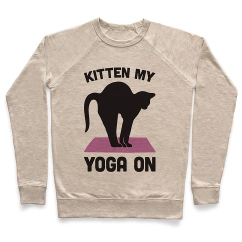 Kitten My Yoga On Pullover