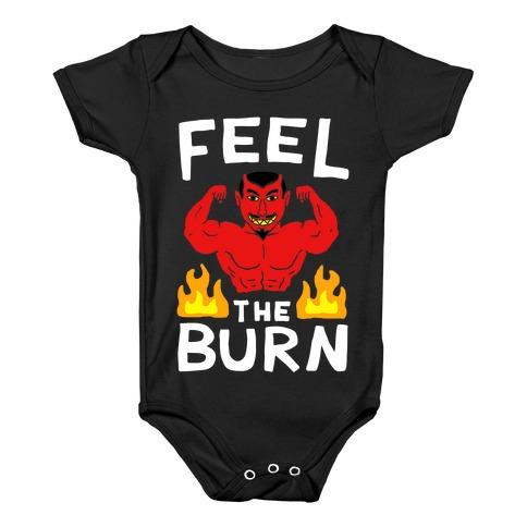 Feel the Burn (Devil) Baby Onesy