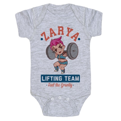 Zarya Lifting Team Baby Onesy