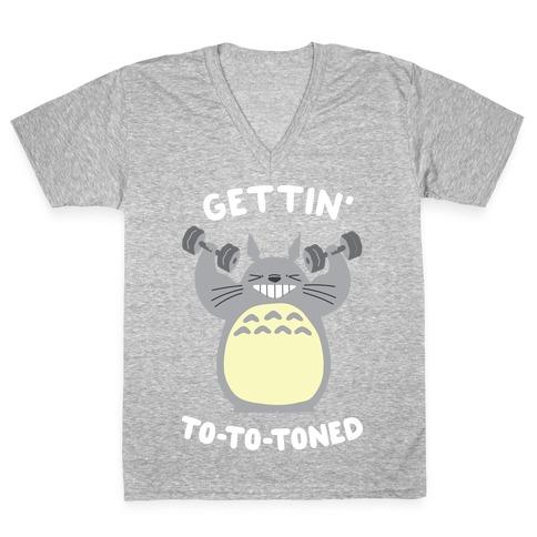 Gettin' Tototoned V-Neck Tee Shirt