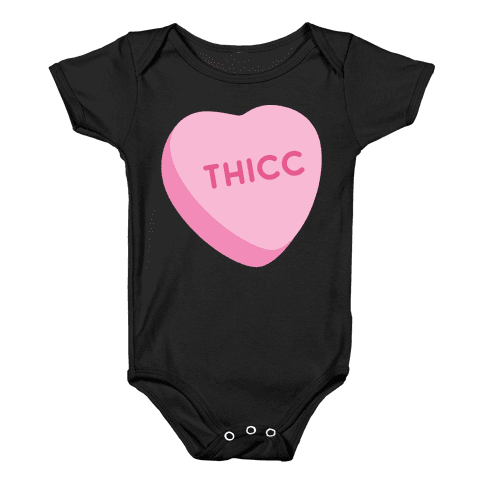 Thicc Candy Heart Baby Onesy