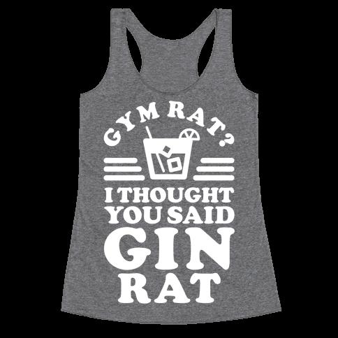 Gin Rat Racerback Tank Top